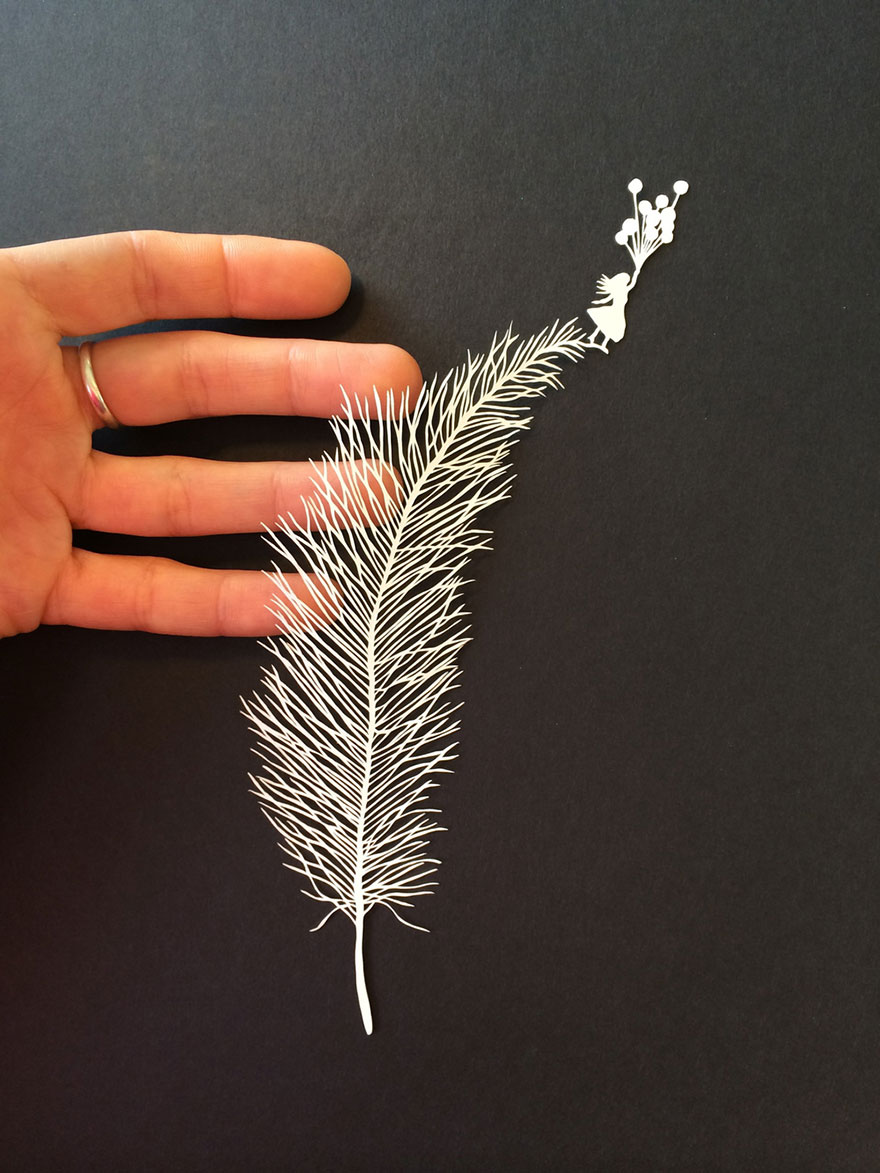 Incredibly intricate hand cut paper art by maude white