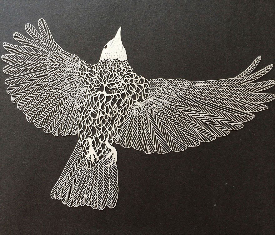 Incredibly Intricate HandCut Paper Art By Maude White Bored Panda - Intricate hand cut paper art maude white