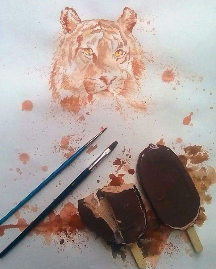 This Artist Paints With Ice-Cream Instead Of Paint