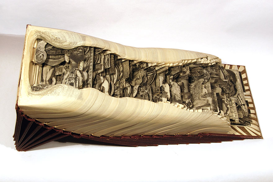 'book surgeon uses surgical tools to make incredible book