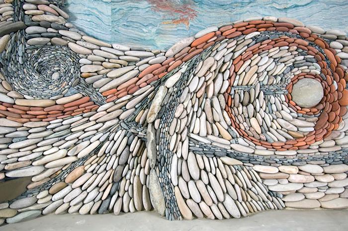 The Ancient Art Of Stone: Couple Creates Beautiful Rock Wall Art Installations