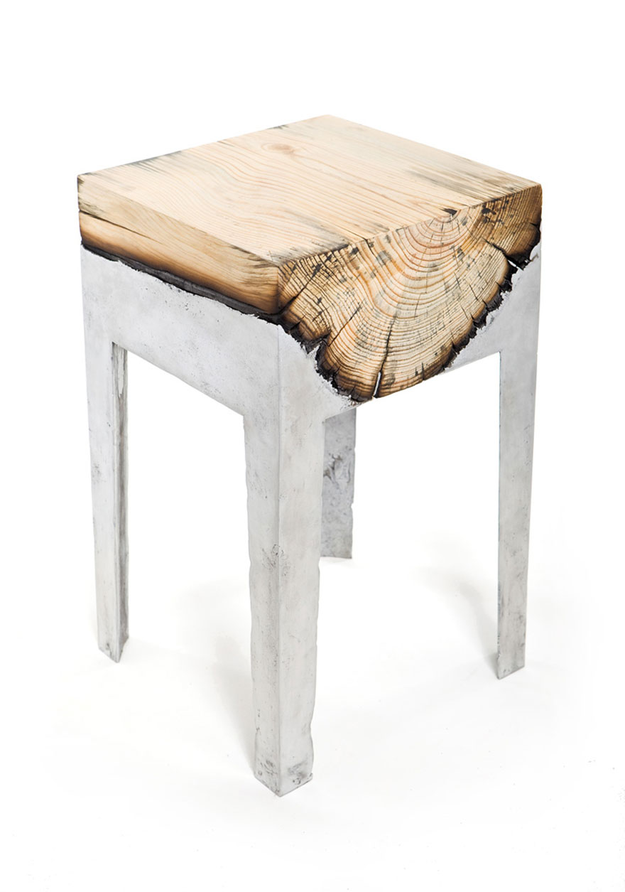 wood casting aluminum furniture hilla shamia 14. Wood And Metal Unite In Striking Furniture By Hilla Shamia   Bored