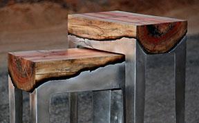 Wood And Metal Unite In Striking Furniture By Hilla Shamia