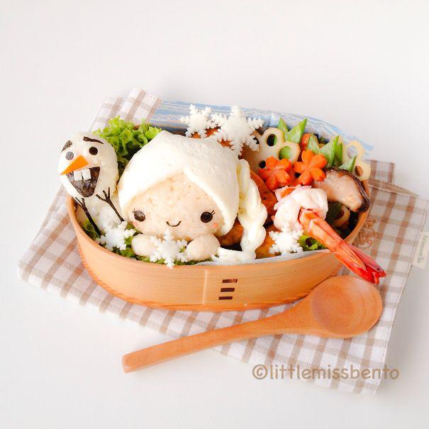 Frozen Bento :) Snow Queen And Olaf!