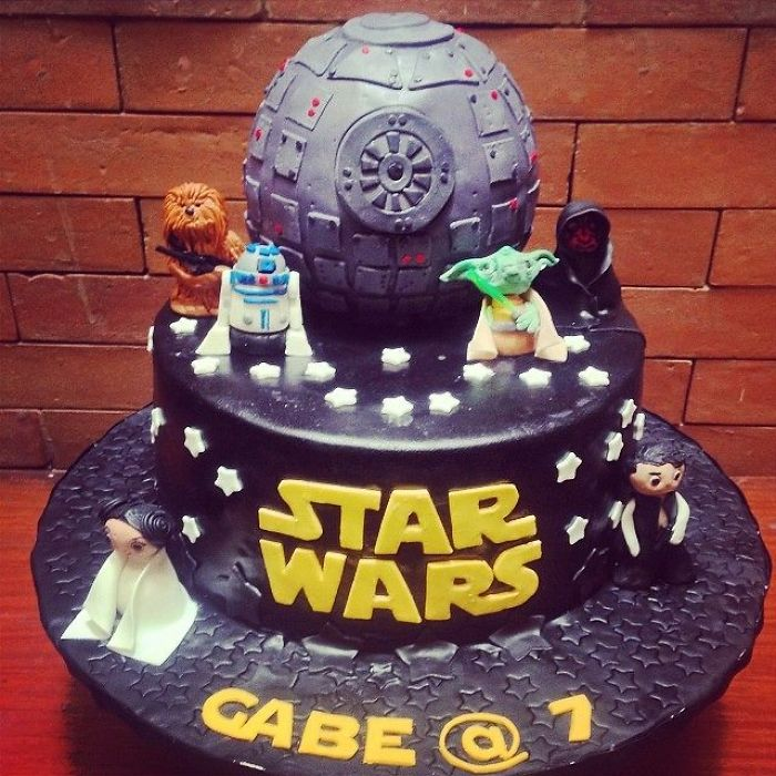 Death Star Cake For A 7 Year Old's Birthday Bash