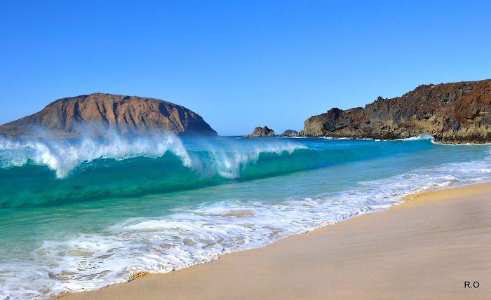 Las Conchas, Isla De La Graciosa, Lanzarote.