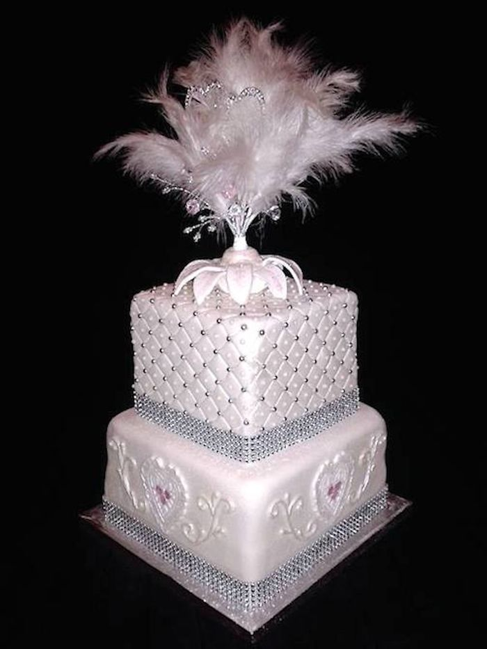Wedding Cake With Hand Made Topper