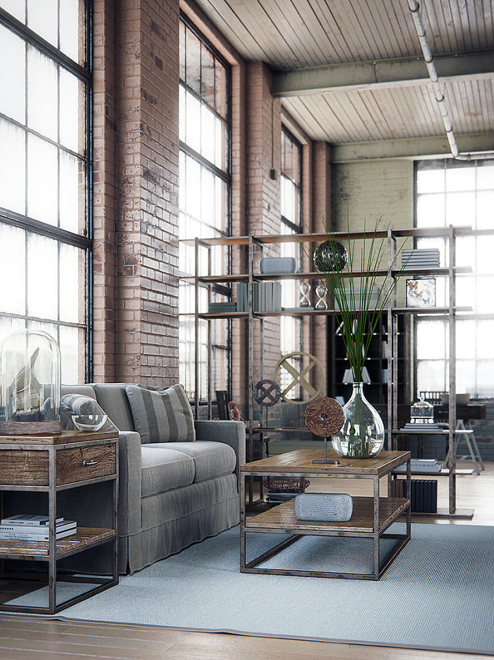 Industrial Interior by Alex Coman