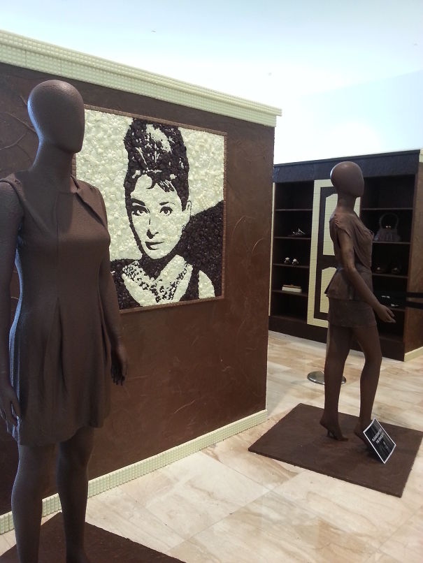 Chocolate Mannequins In A Chocolate Home