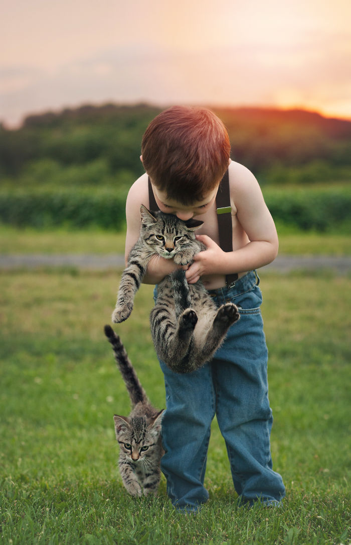 Boy And His Kitten