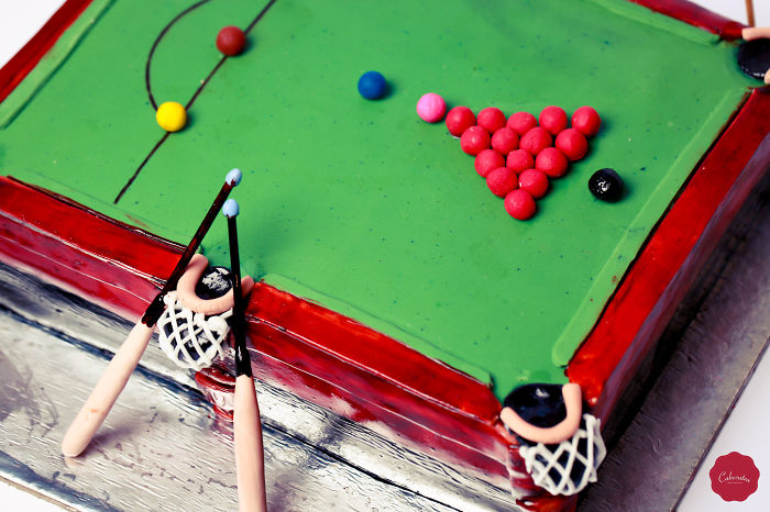Snooker Table Cake From Cakesutra