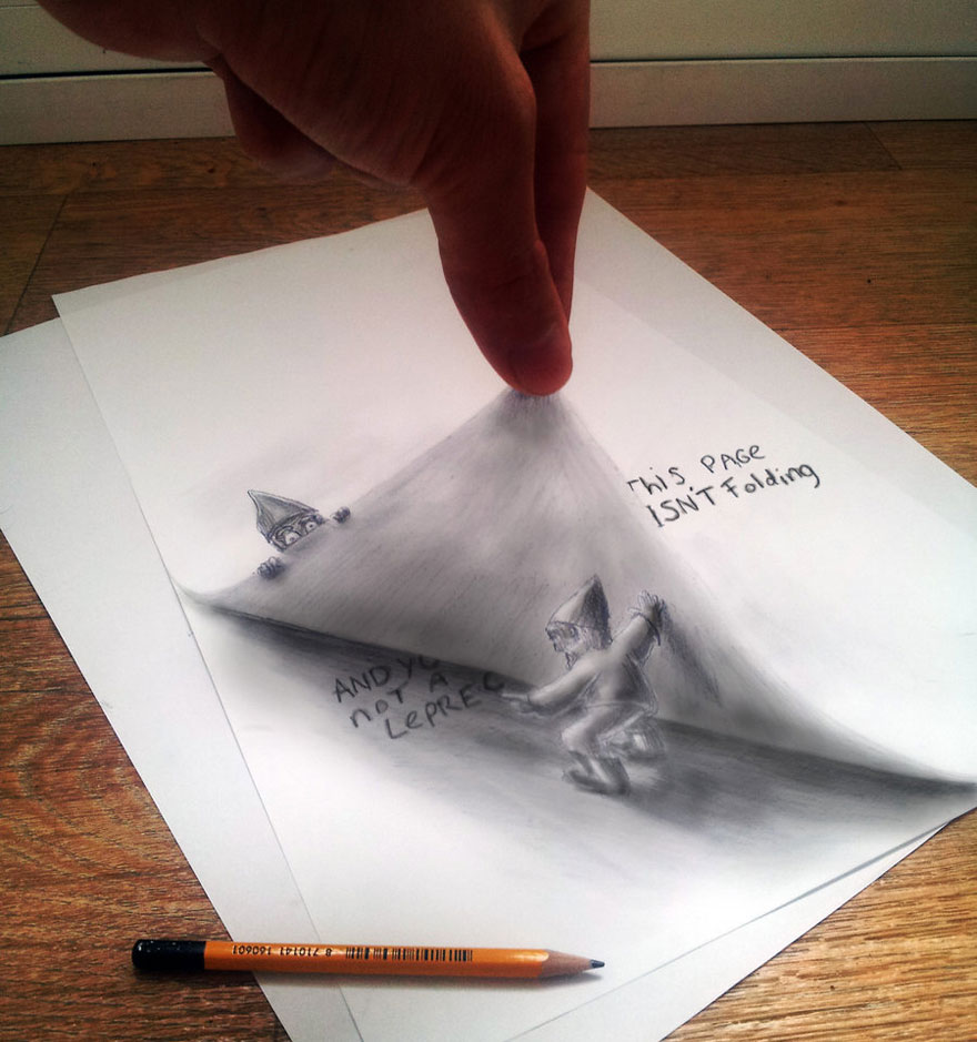 Pencil Sketch 3D Picture