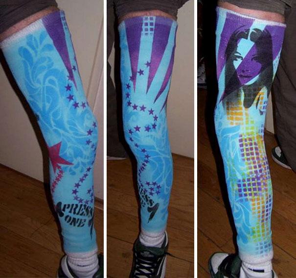 Graffiti Stockings Cast Art