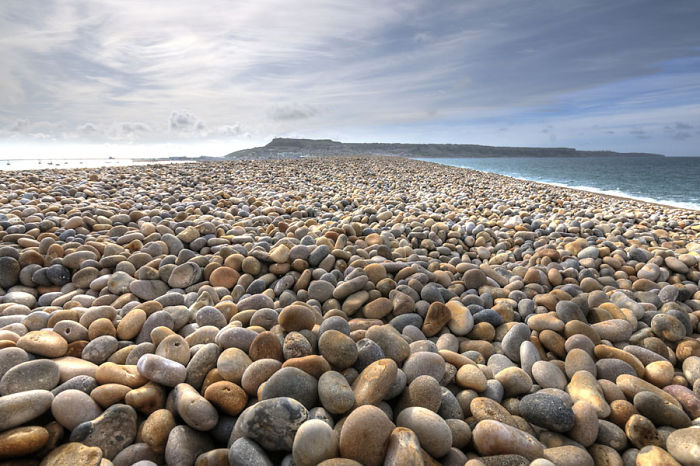 Huge Pebbles At Chesil Beach, Portland, Dorset, On The South Coast Of England