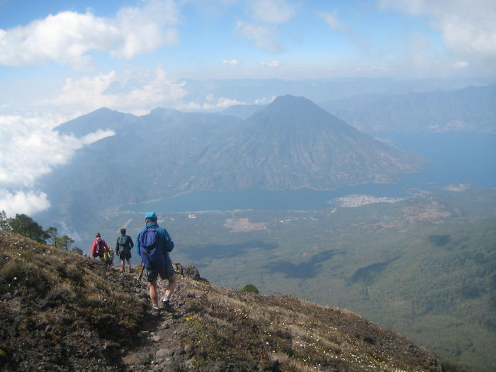 View From Atitlán Volcano (lake Atitlán And San Pedro Volcano Ahead) – Guatemala