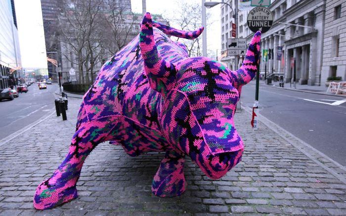 Crochet Street Art By Olek