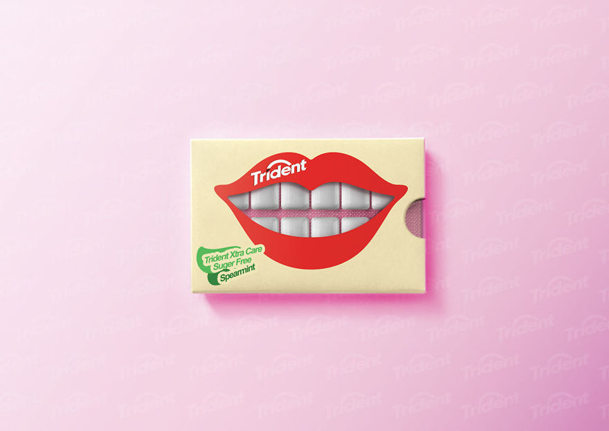 I Created Clever Packaging Concept For Chewing Gum