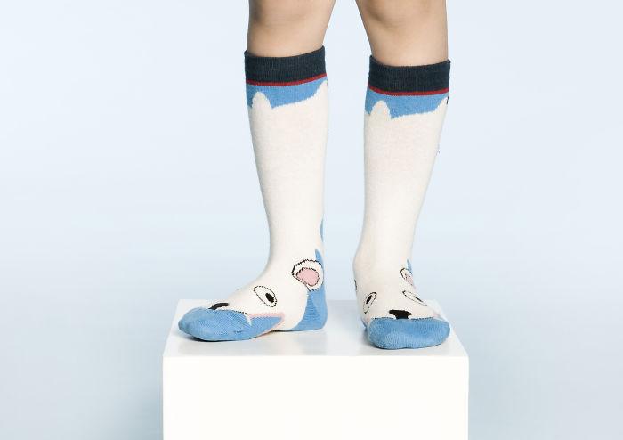 Polar Bear Sock By Ubang