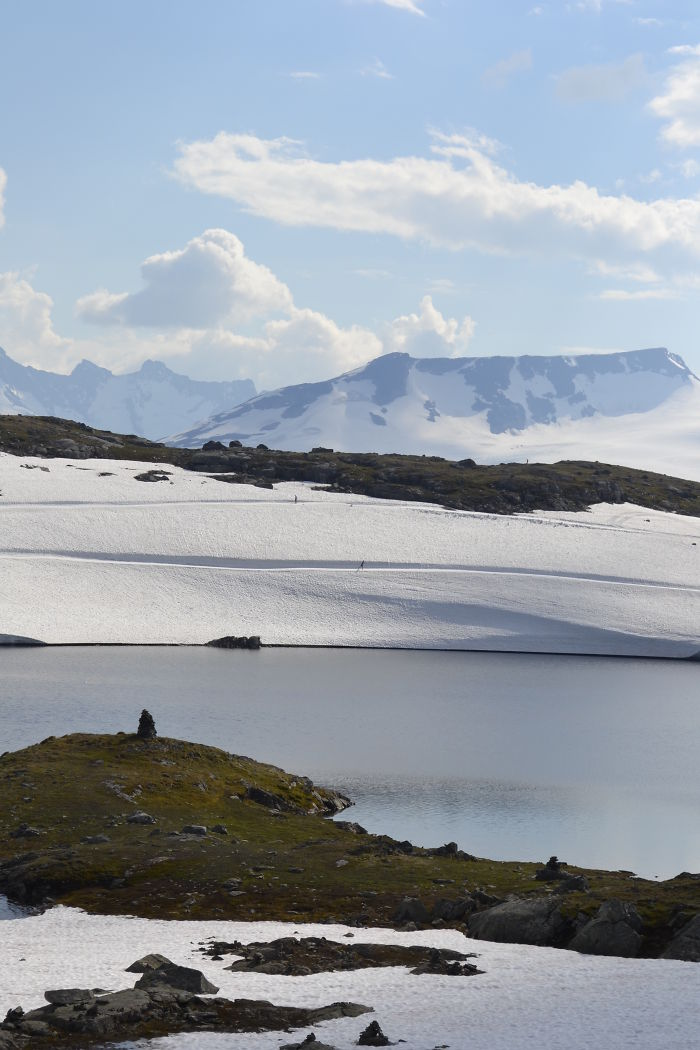 Lonely Cross-country Skiers, Jotunheimen National Park, Norway