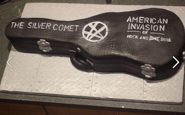 The Silver Comet Band Of Atlanta, Ga., Fabulous Guitar Case Cake