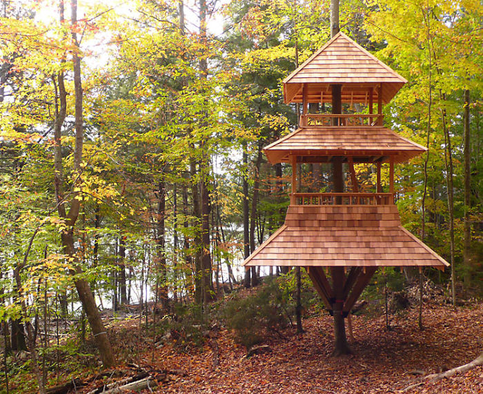 Nils Luderowski's Treehouse In Long Lake, Ny