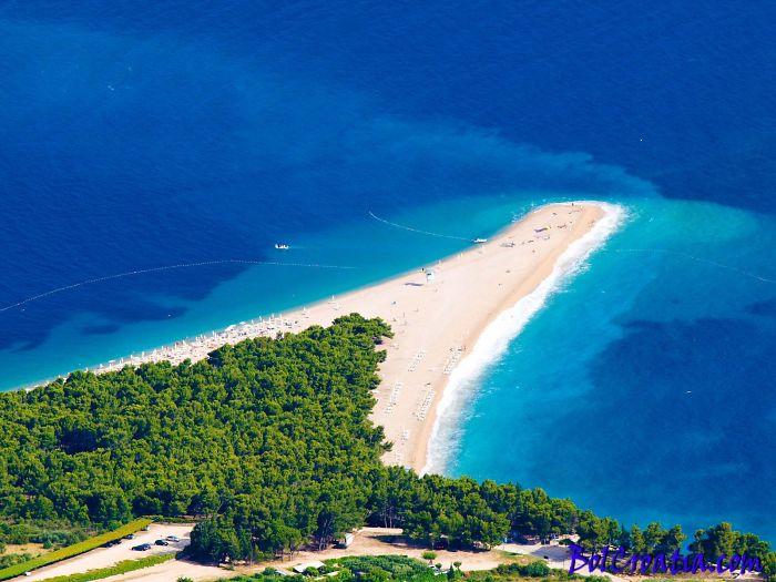 Zlatni Rat Beach, Bol Isla de Brac, Croacia