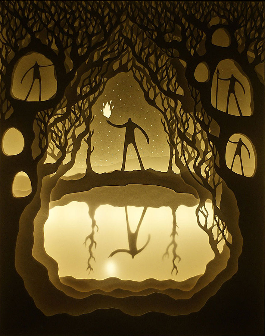 Fairytales Come To Life In New Papercut Light Boxes by Hari & Deepti