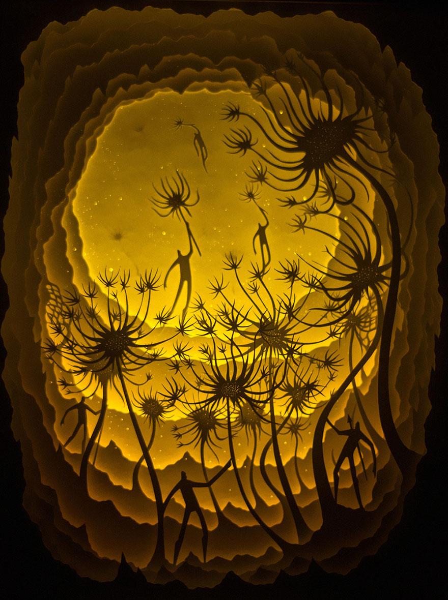 backlit-paper-sculptures-shadow-art-hari-deepti-14