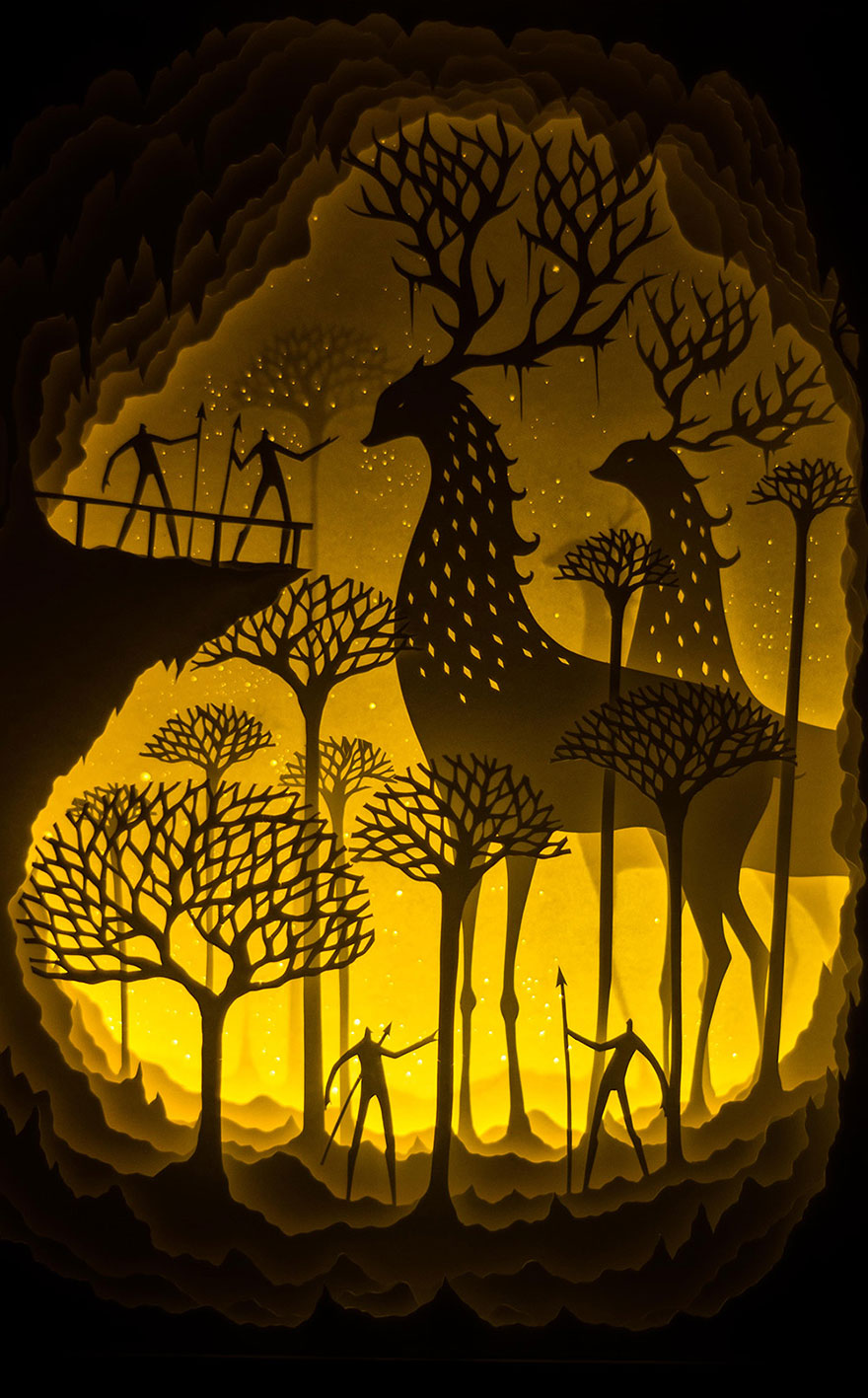 Fairytales Come To Life In New Papercut Light Boxes by Hari