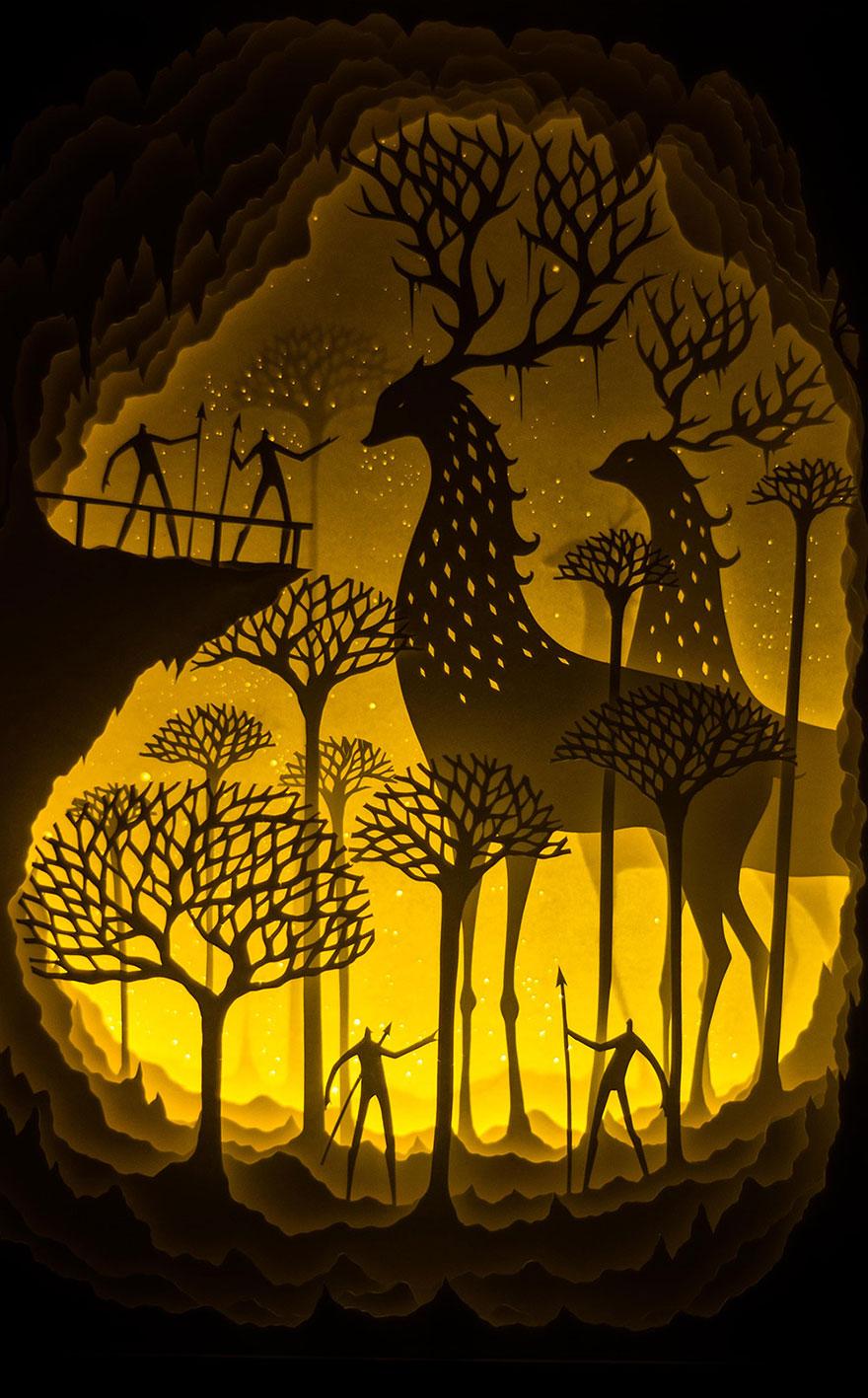 backlit-paper-sculptures-shadow-art-hari-deepti-15