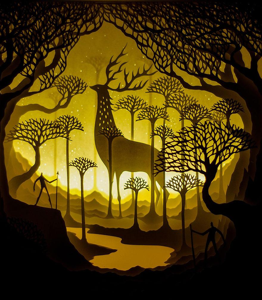 backlit-paper-sculptures-shadow-art-hari-deepti-17