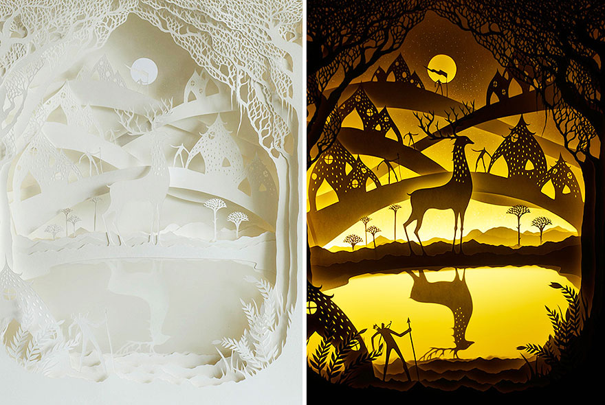 Fairytales Come To Life In New Papercut Light Boxes By