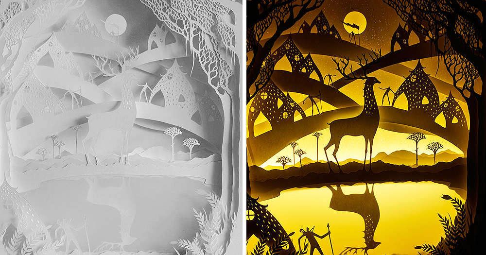 Fairytales Come To Life In New Papercut Light Boxes by Hari & Deepti | Bored Panda