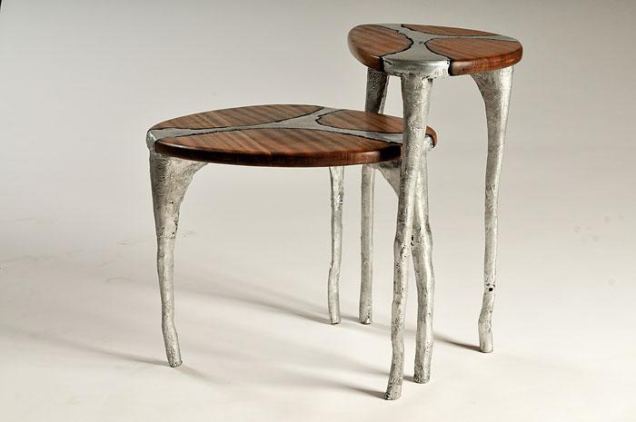I Make Unique Furniture By Pouring Cast Aluminum Onto Wood