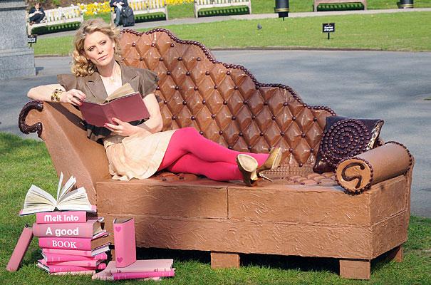 A 250kg Edible Chocolate Sofa