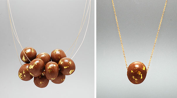 Real Gold And Chocolate Jewelry