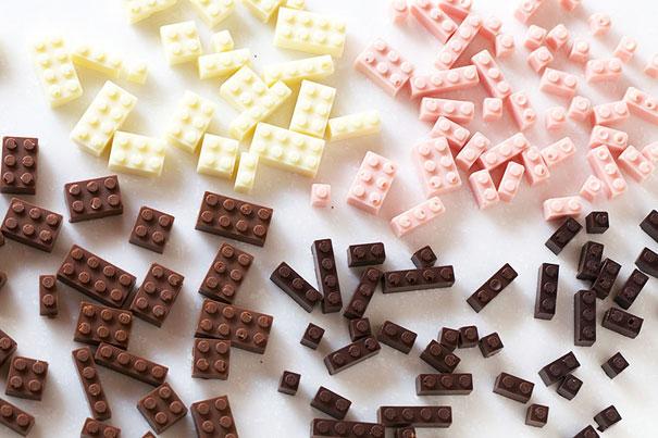 Functional Chocolate Lego Bricks