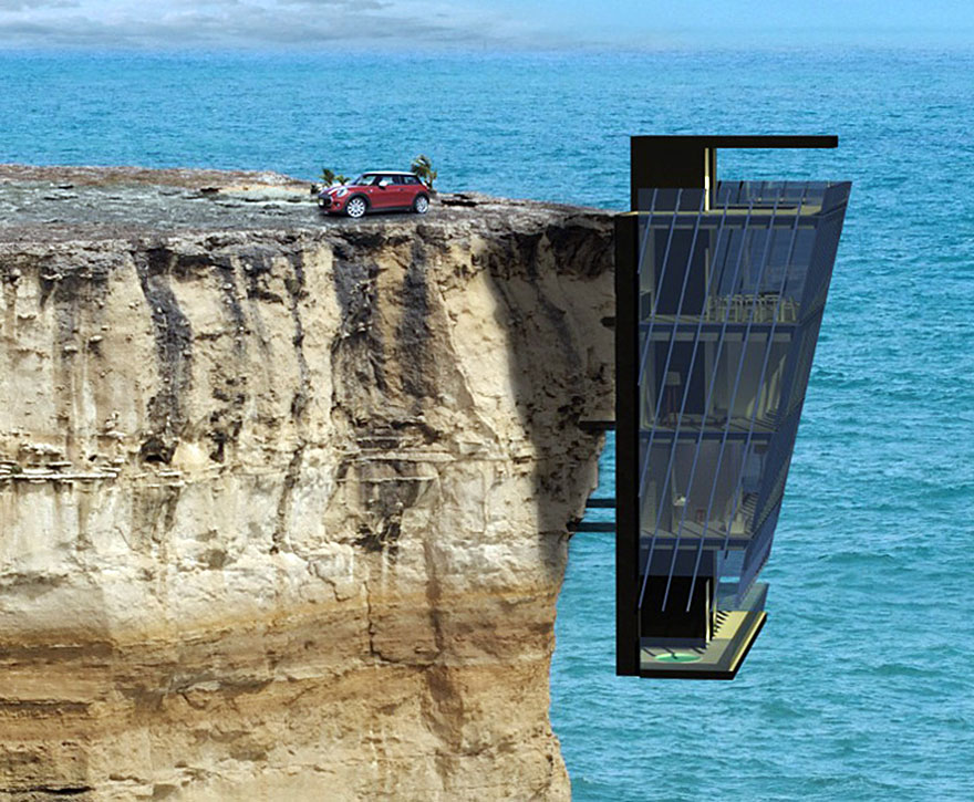 extraordinary vacation home in australia clings to cliff