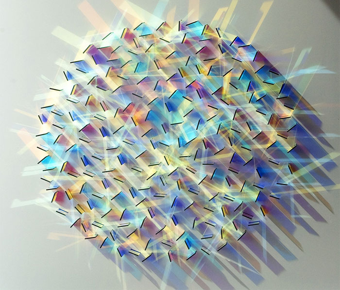 Dazzling Colored Glass and Light Installations By Chris Wood