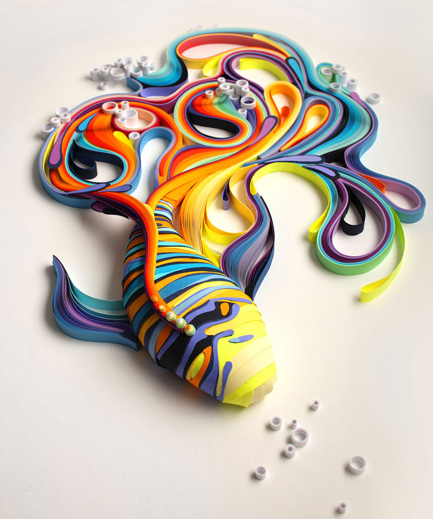 colorful-paper-art-illustrations-yulia-brodskaya-1 Colored Lines