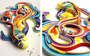 Mesmerizing Paper Art Made From Strips Of Colored Paper by Yulia Brodskaya
