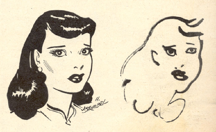 In 1947, Ten Comic Strip Artists Were Asked To Draw Their Characters Blindfolded
