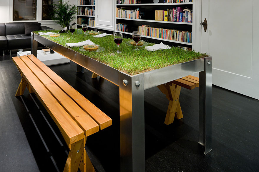 18 of the most magnificent table designs ever bored panda for Sustainable interior design products