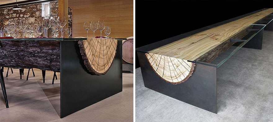 Design Tables adorable coffee table design simply elegant extruded tree coffee table design Creative Table Design 32