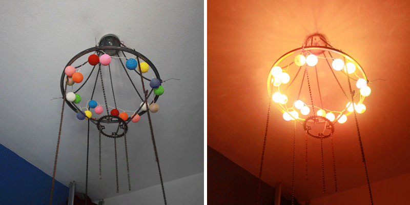 DIY Chandelier From My Old Bicycles\' Parts   Bored Panda