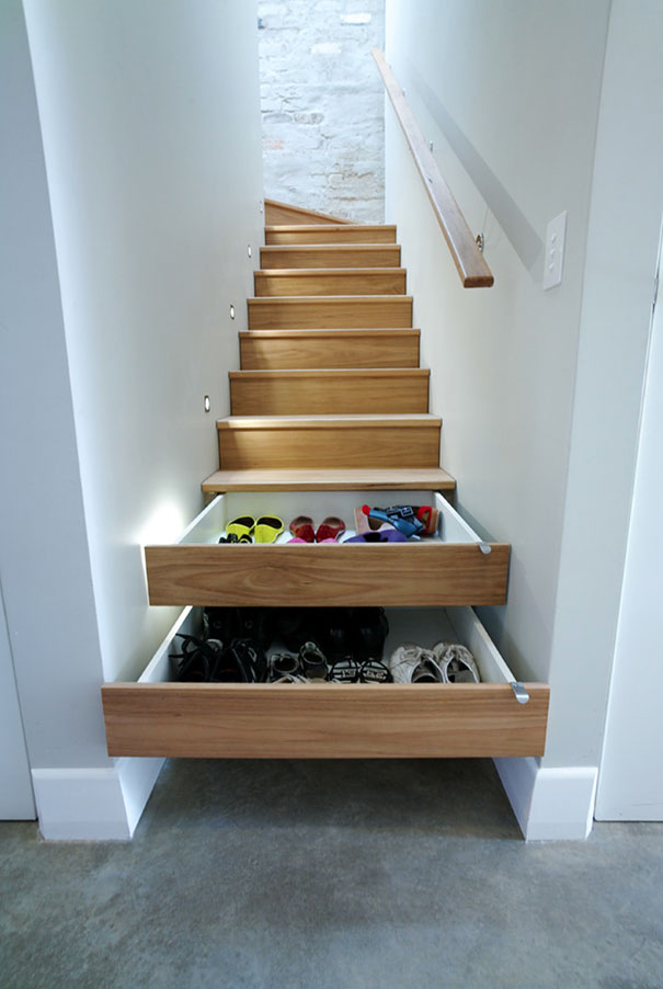 3 stair drawers - Small Home Design Ideas