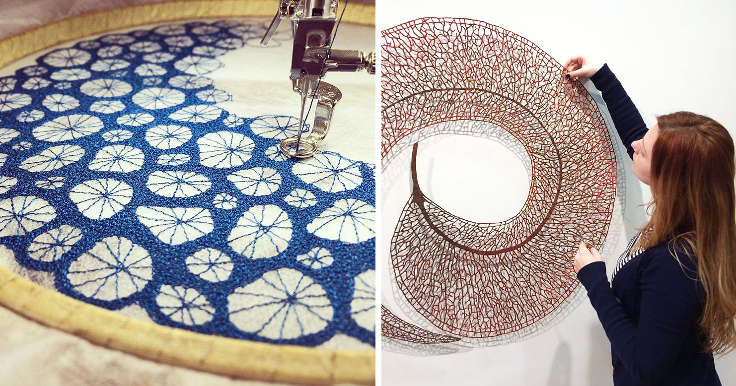Artist Uses Home Sewing Machine To Capture Nature S Most Delicate
