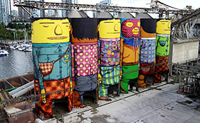 Twin Brothers Turn 70 Ft Silos In Vancouver Into Colorful Giants