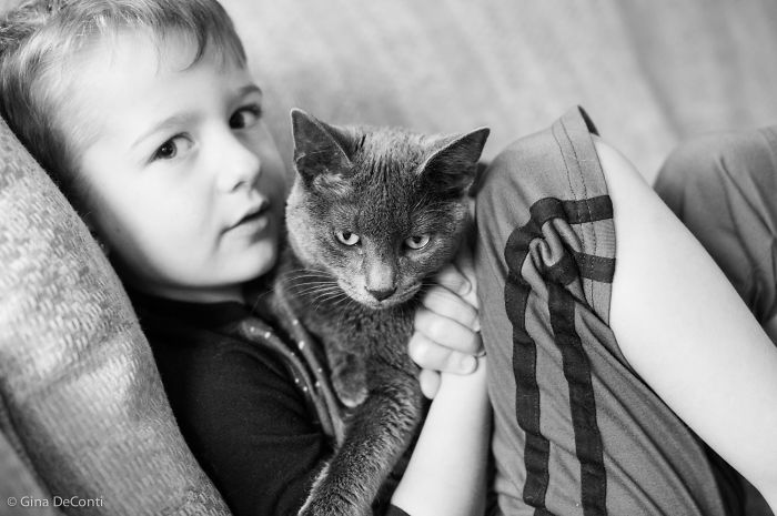 A Boy And His Kitten