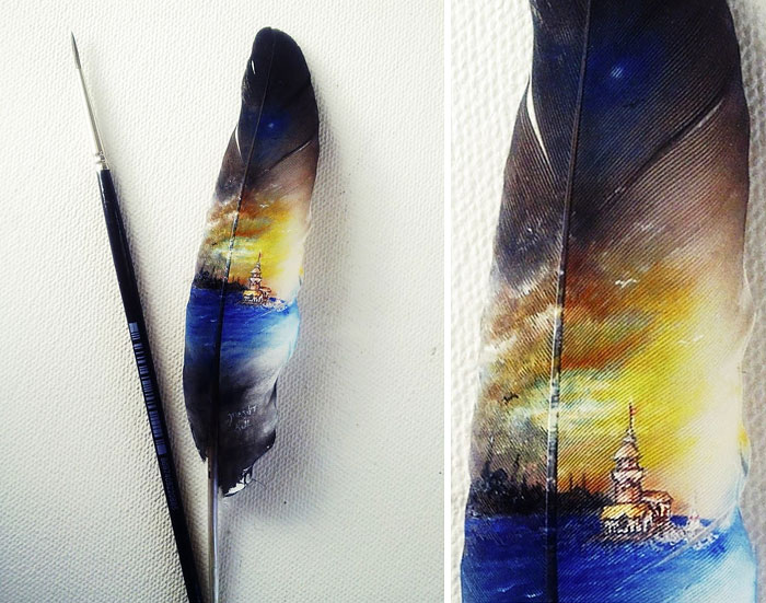 Micro Paintings By Mesut Kul Bored Panda